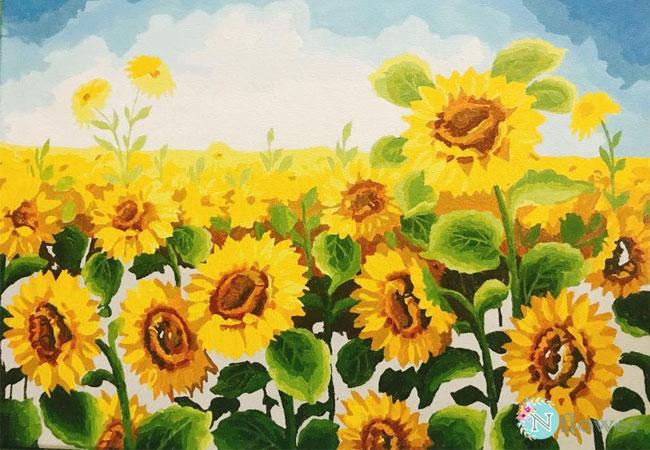 tranh vẽ hoa hướng dương 5
