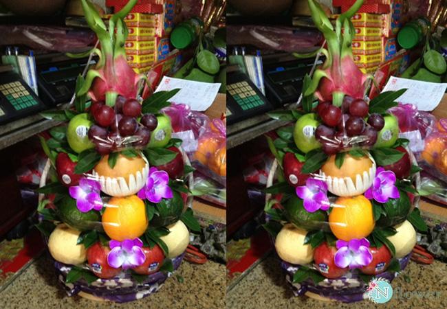 giỏ trái cây tang lễ 2