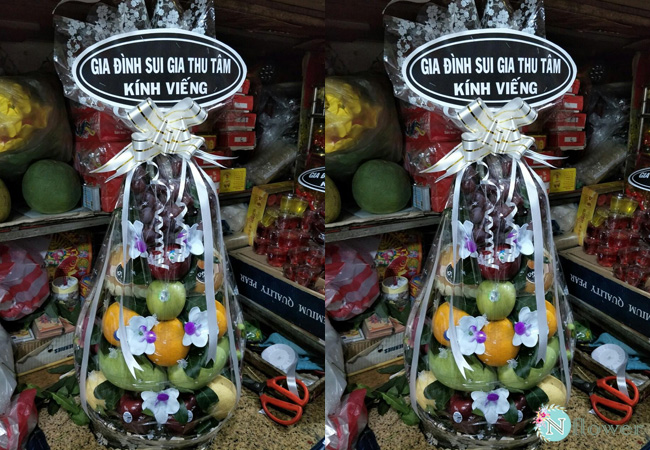 Giỏ trái cây tang lễ 4
